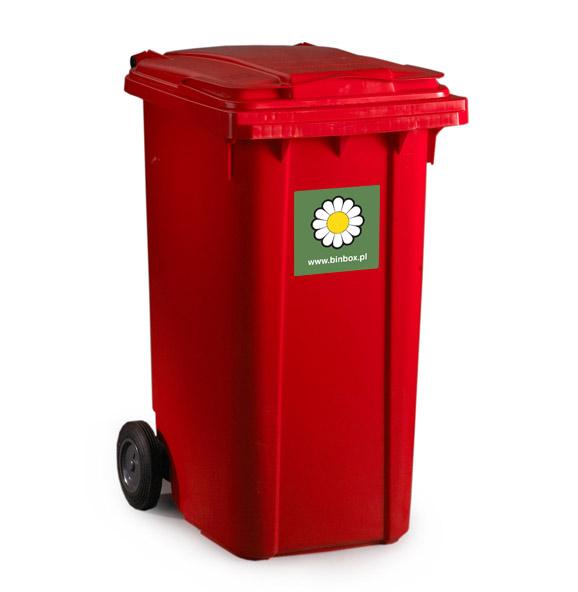pojemnik na odpady mgb 240l czerwony